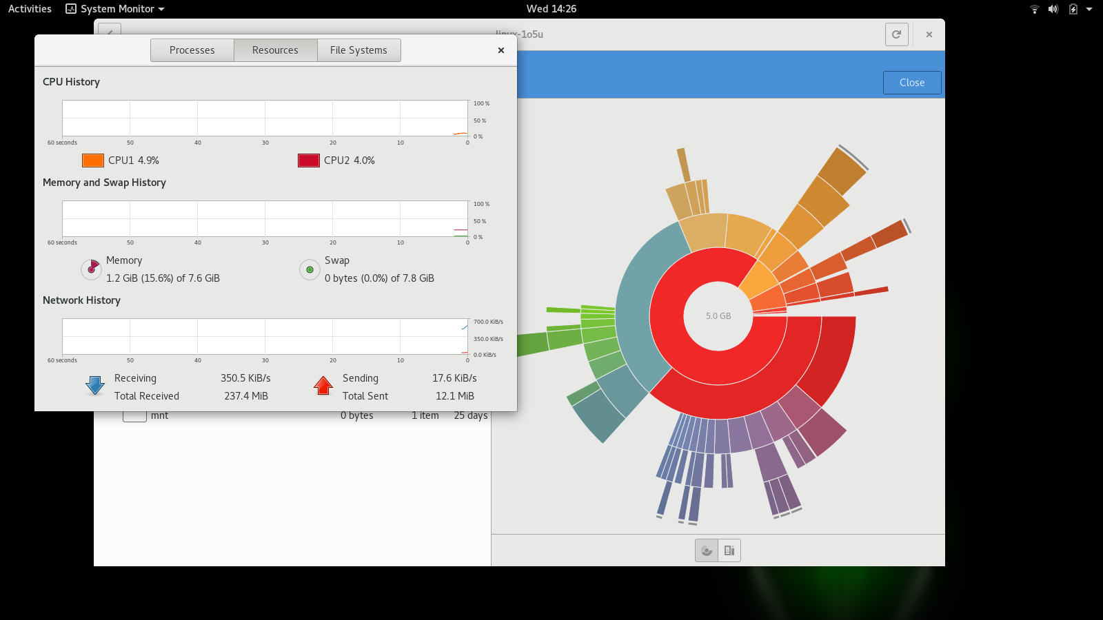GNOME disks analyzer sysmonitor 42.2.png