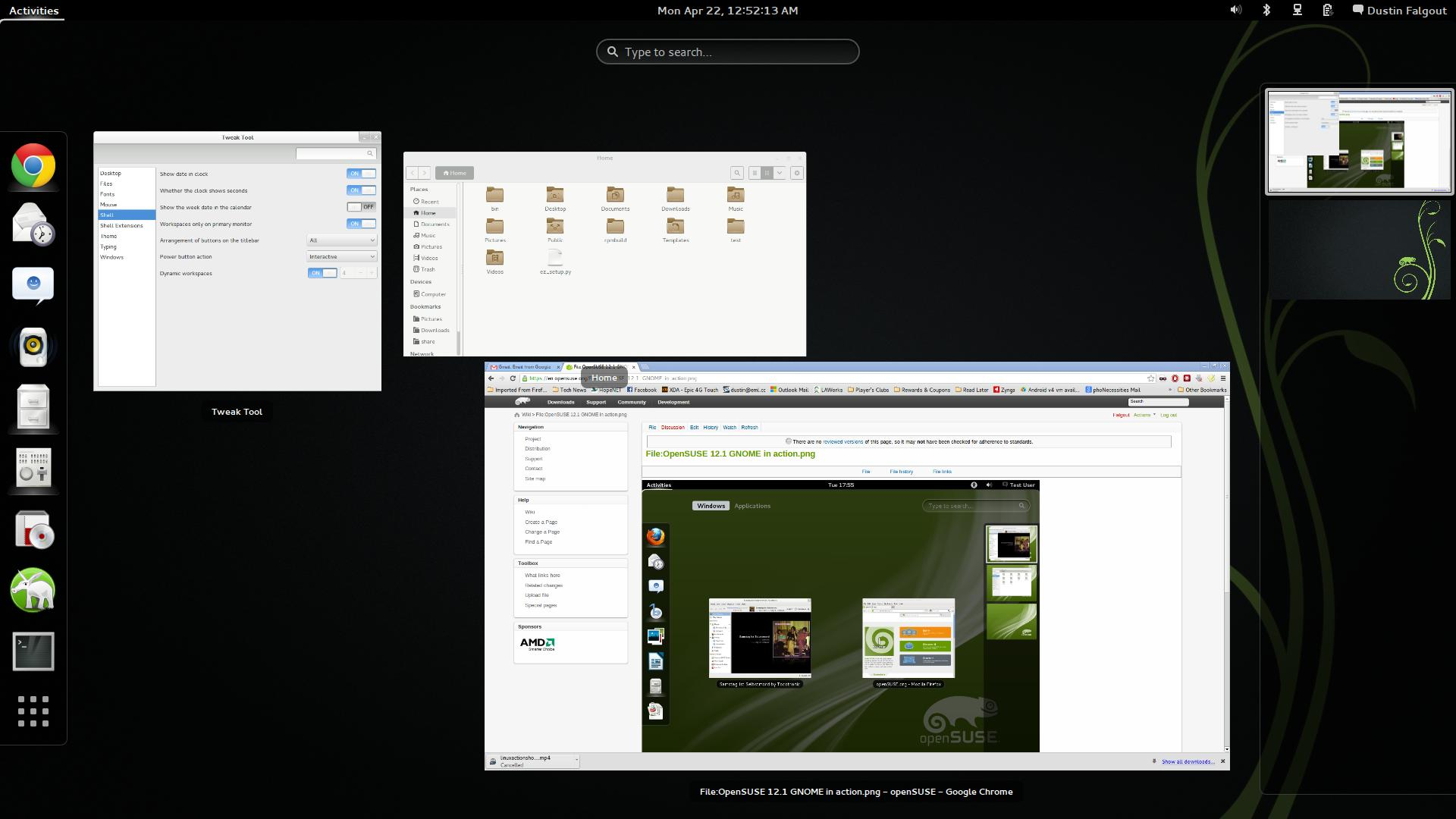 GNOME 3.8 Screenshot-activities.jpg