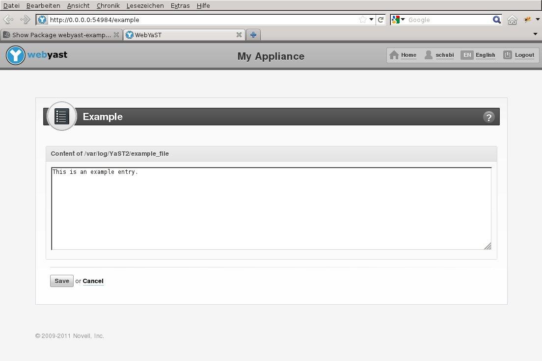 openSUSE:WebYaST ExamplePlugin - openSUSE Wiki