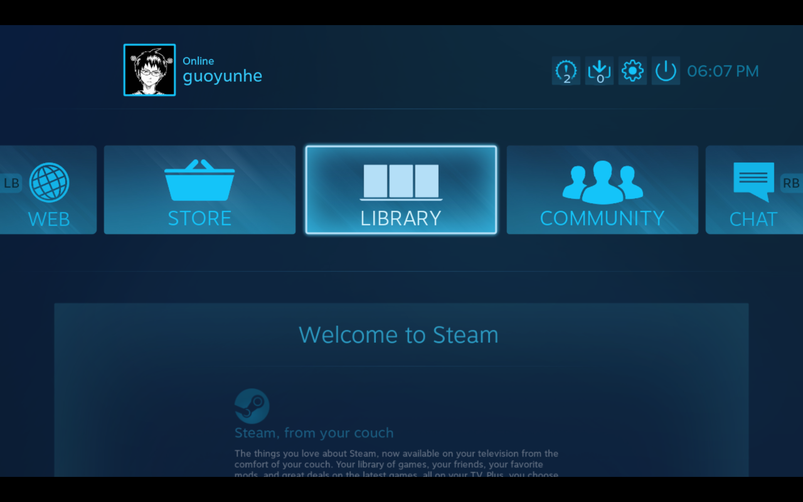 Steam big picture mode home screen.png