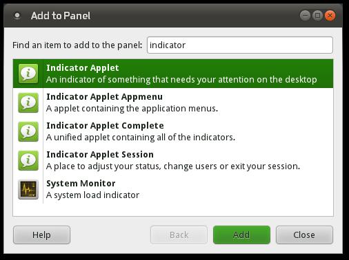 Možnosti přidání na hlavní panel.
