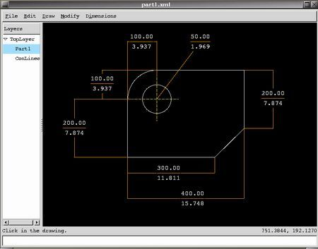 CAD under Linux - PythonCAD