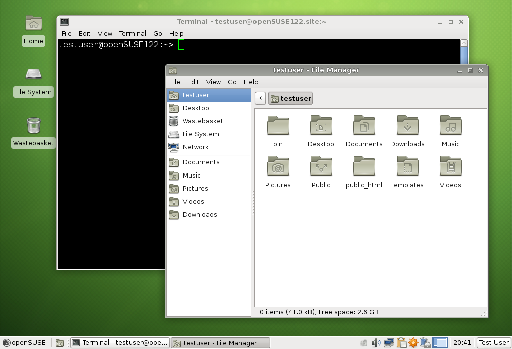 File:OpenSUSE 12.2 XFCE terminal filemanager.png