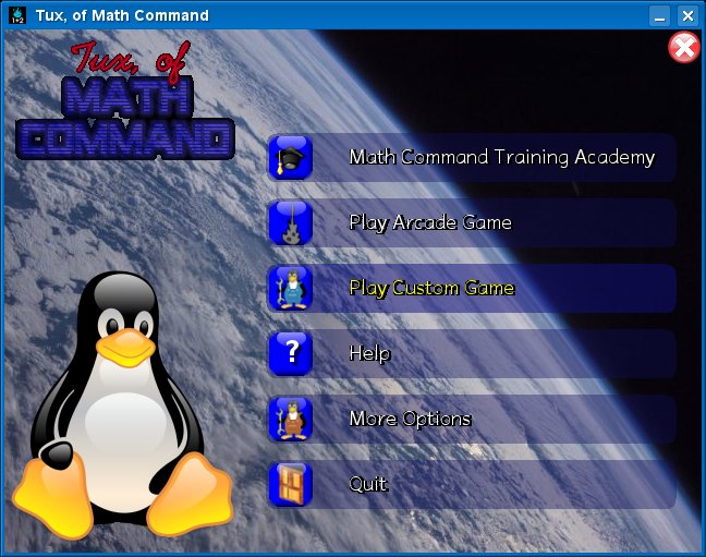 Tux of math - Title screen