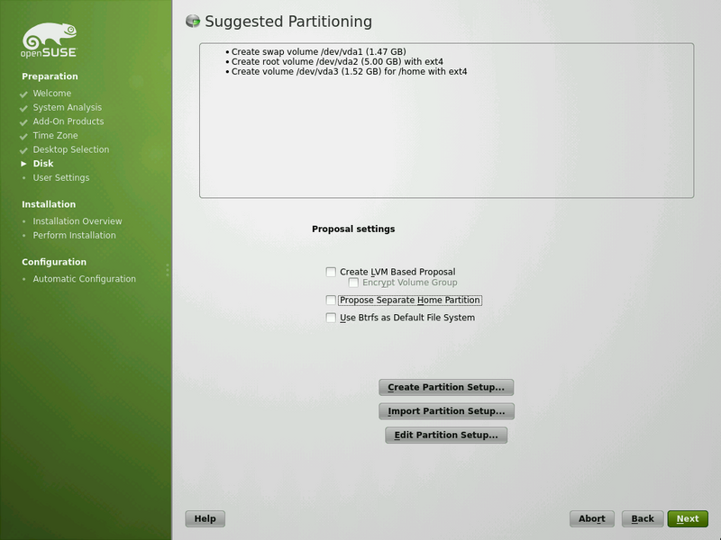 Disk Preparation ArchiveScreenshots 122 openSUSE