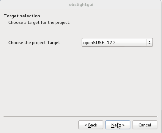 OBS Light GUI Target selection