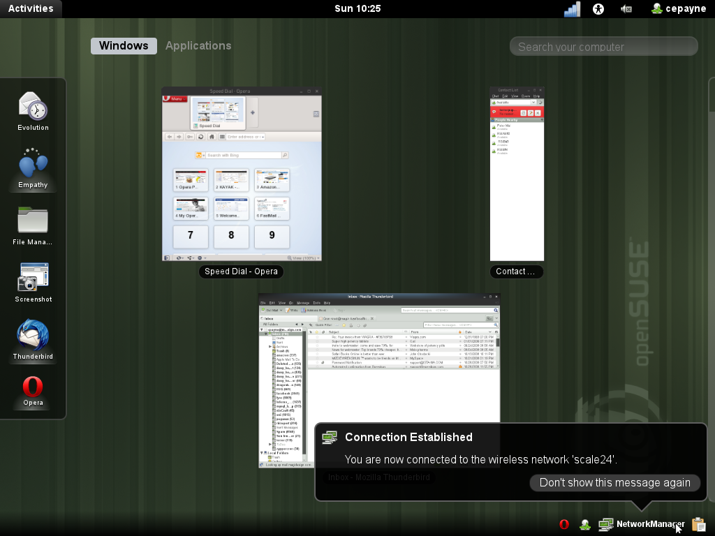 opensuse 11.4 different
