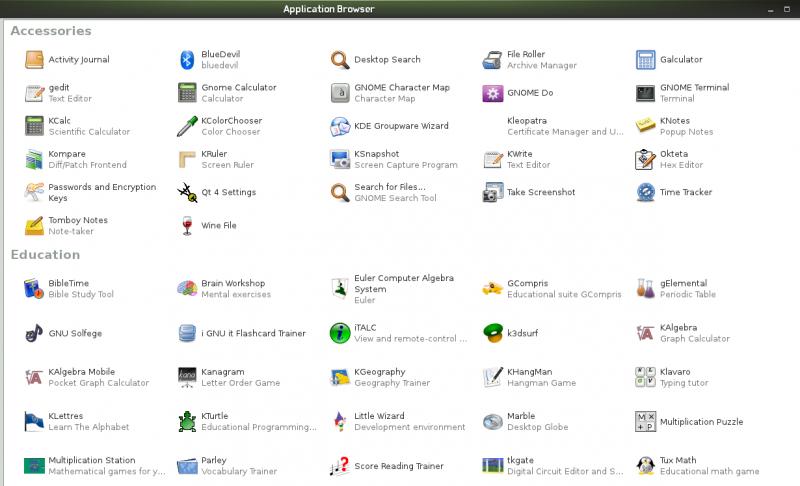 скриншоты openSUSE 11.4 Edu Li-f-e